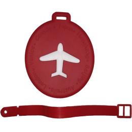Круглая бирка на чемодан FAT-LT-CIRCLE-PLANE