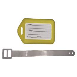 Желтая бирка на чемодан FAT-LT-PLASTIC-BASIC