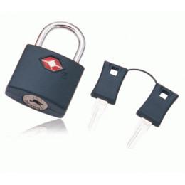 Замок для чемоданов TSA с ключом из поликарбоната на жесткой перекладине черный FAT-PL-KEY-PC-BLACK