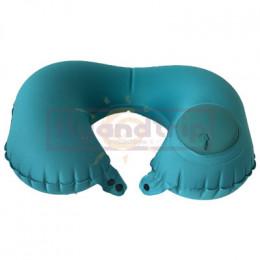 Подушка для шеи надувная с помпой Flyandtrip бирюзовая