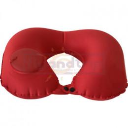 Подушка для шеи надувная с помпой Flyandtrip красная