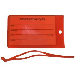 Оранжевая бирка на чемодан FAT-LT-SILICONE-BASIC