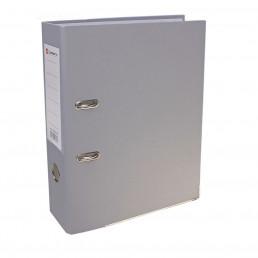Папка-регистратор А4, 80 мм, PP Lamark, серая, металлический уголок, разобранный, серый