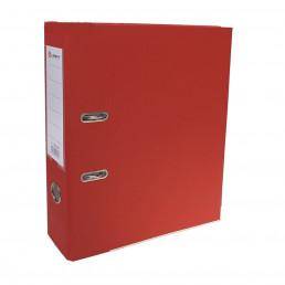 Папка-регистратор А4, 80 мм, PP Lamark, металлический уголок, карман, разобранный, красная
