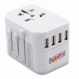 Универсальный тревел-адаптер Flyandtrip с USB разъемами