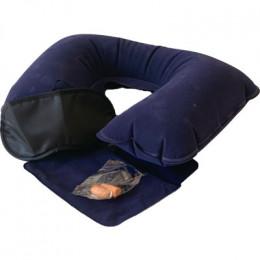 Подушка для шеи надувная Flyandtrip в комплекте синяя