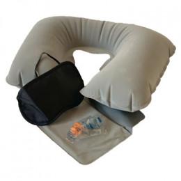 Подушка для шеи надувная Flyandtrip в комплекте серая