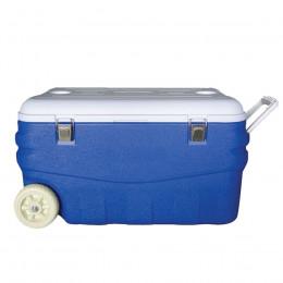 Изотермический контейнер Арктика 80 литров с колесами синий