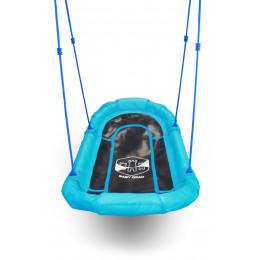 Качели гнездо детские подвесные уличные гамак Baby-Grad 140 синие