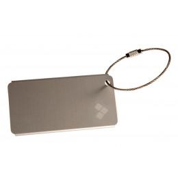 Серая бирка для чемодана алюминиевая Valmont